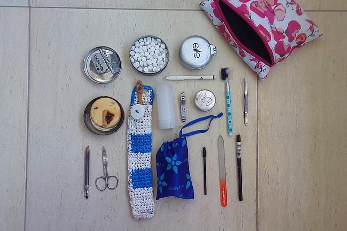 Kozmetična torbica za dopust brez odpadkov